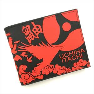 Anime Naruto Shippuden Akatsuki Uchiha Itachi Red Cloud Silica Short Wallet Waterproof Purse printed with red cloud