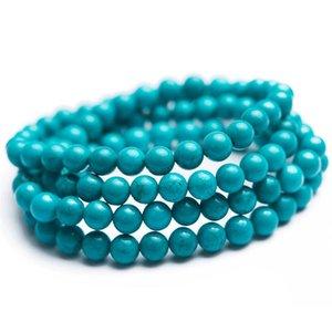Perlé, brins 6mm bracelet en pierre naturelle GEME GEMS Cristal Perle ronde Trois tours Bracelets Stretch Femmes Hommes