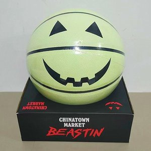 Spalding Chinatown Market X Beastin co branded basketball ball Halloween pumpkin devil smiling face luminous limited reflective grimace gifts