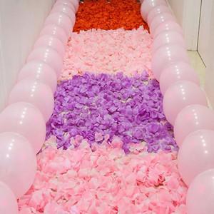 500pcs / pack romantico petali di rosa artificiale fiore di nozze fiore rosa fiore romantico petali di seta decorazione di nozze
