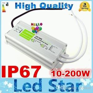 Su geçirmez LED Sürücü Adaptörü 12 V Yüksek Güç 10 W 20 W 30 W 45 W 60 W 80 W 100 W 120 W 150 W 200 W LED Güç Kaynağı Transformatörü DC 12 V