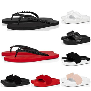 Moda uomo donne infradito flip flops bottom pickes estate pantofole triple nero bianco yellow slowids house da uomo all'aperto sandali
