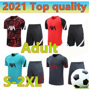 20 21 camisas de futebol manga curta Camisa Polo terno treinamento 2020 2021 homens 3/4 calças maillots de camisas do futebol treino