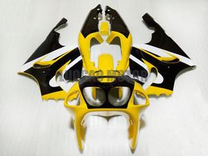 jaune noir kits Carénage KAWASAKI ZX7R 1996 1997 1998 1999 2000 2001 2002 2003 96-03 kits carrosserie Carrosserie ZX7R moto carénages + Cadeaux
