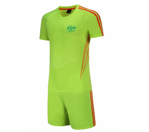 20 21 New Australia national soccer team Football Jersey Kids Soccer Training Set Soccer Pant Adult Outdoor Sportswear Summer Suits