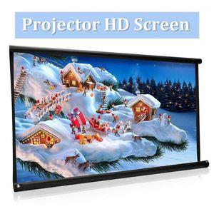 Высокая яркости складной 100-дюймовый HD-экран HD-экран Холст 16: 9 Projector Front Home Театр Проекционный экран Projection Movie Projector1