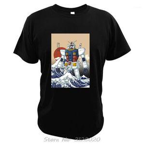 모바일 정장 건담 T 셔츠 일본 애니메이카 셔츠 셔츠 가나가와 티셔츠 탑스 1 남자 티셔츠