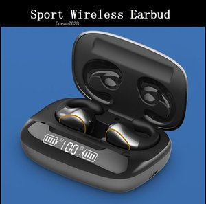 Bluetooth 5.0 Stereo Earbud Waterproof Sports Wireless Earphone Noise Reduction In-ear LED Headset With Charging Box
