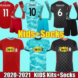 2020 2021 kits enfants chaussettes maillots du real madrid danger isco VINICIUS JR sergio ramos modric bale 20 21 maillot de football enfants ensembles camisetas