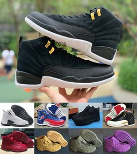 12 Cheap Jumpman 12s FIBA CNY Bumblebee Mens Basketball Shoes Reverse Taxi Game Royal Blue Gym Red Wings Grey men sports sneakers trainers