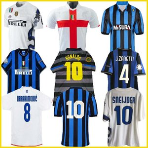 finales 2009 2010 MILITO SNEIJDER ZANETTI Retro Maillot de football Pizarro Football MILAN 1997 1998 97 98 99 RONALDO Inter Djorkaeff Baggio 88 89