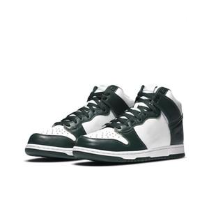 2020 الموضة الجديدة Nike SB DUNK Low shoes عالية دونك مريح مكتنزة dunky الأبيض الأخضر / الرجال سميكة الأحذية النسائية الوحيدة لوح التزلج الأحذية والأحذية الرياضية في الهواء الطلق
