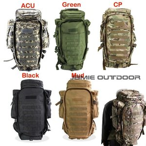 60L Carry Backpack Shotgun Bag Paintball Hunting Gun Bags Tactical Extended Full Gear Dual Rifle Gun Bag