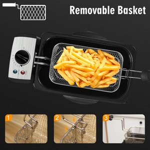 FreeShippingElectric Deep Fryer 3L French Frie Frying Machine Oven Hot Pot Fried Chicken Grill Adjustable Thermostat Kitchen Cooking Sonifer