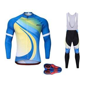 Hommes 9D Gel respirant Tapis d'hiver à manches longues cyclage thermique Jersey Polaires Hommes Set VTT Vêtements de vélos Jersey