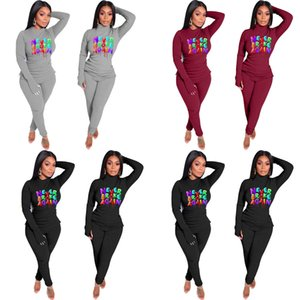 Women Tracksuit Designer T-shirt Legging Pants Outfits Never Broken Again Letters Tops Trouser Suit Fashion Two Piece Clothing Sets GG11404
