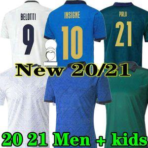 Bernardeschi 2020 2020 2021 Itália Futebol Jersey 20 21 Fosco Terceiro Jorginho Shaarawy Bonucci Insigne Casa Camisas de Futebol Adulto Men + Kid Kit