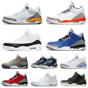 nike air jordan retro 3 3s Üst Kalite Retro Basketbol 3 3s Lazer Turuncu Saten AyakkabıÜrdünHava Fragment Jumpman Stok III X UNC Moda Eğitmenler Spor ayakkabılar
