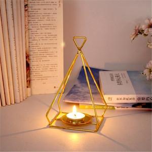 Geometric Iron Light Candle Holder Candlestick Creative Minimalist Lantern Candlestick Home Indoor Christmas decorations #20