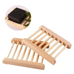Soap Dishes Natural Wooden Soap Tray Holder Bath Soap Rack Plate Container Household Shower Bathroom Accessories