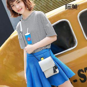 Designer-Handbag 2019 spring women's bag new tassel pendant single shoulder oblique cross package Korean version simple lady