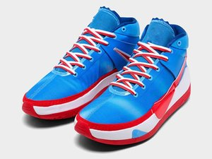 Zoom KD 13 Tie Dye Shoes With Box Kevin Durant 13s University Blue University Red White Men Women Sports Sneakers Size 7-12