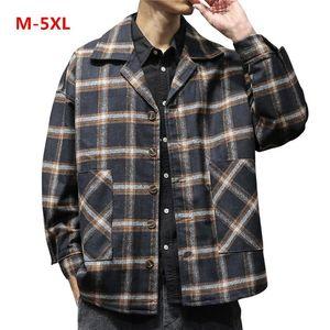 Мужские куртки мужской бомбардировщик зимний стиль ретро проверена блузка большой размер топы пальто ветровка Jaqueta Masculina