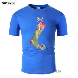 Personnaliser Crazy Christmas Stocking T-shirt pour hommes 100% coton graphique gris Loisirs T-shirts Big Taille 3XL 4XL 5XL 8101510