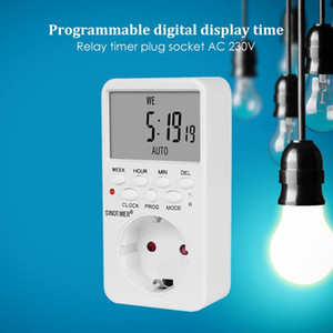 Portable Large LCD Electronic Rechargeable Battery Powered Street Lamps Controller Weekly Digital Programmable Timer Switch
