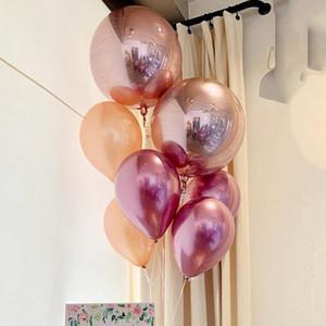 Sphere Foil Balloon Latex Balloon Set Birthday Baby Shower Wedding Parties Decorations Helium Supplies