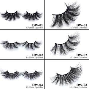 5D 25mm 3D Mink lashes 18 styles Eye makeup False eyelashes Soft Natural Thick Fake Eyelashes 3D Eye Lashes Extension Beauty Tools