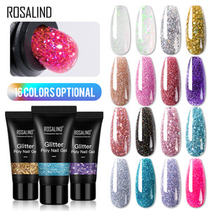 ROSALIND 30ml Glitter Color Poly Nail Gel Nail Extension Soak Off Quick Builder Poly Gel Polish For Nail Art