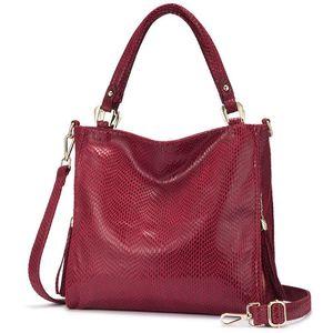 HBP Women handbag shoulder bag female crossbody bags for women 2020 luxury handbag with top handle for ladies tassel tote bag RED