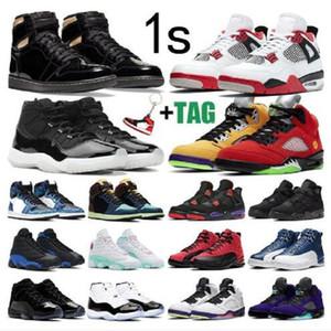 2021 jumpman 1 1S أحذية كرة السلة مع الرجال نساء منتصف ضوء الدخان رمادي تو تويست أحذية رياضية منتصف حداء الولايات المتحدة الأمريكية متعدد الألوان المدربين