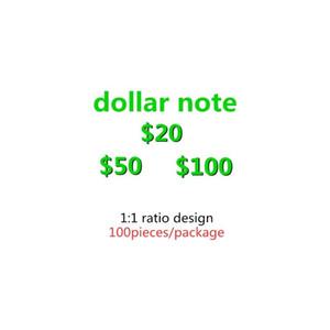 Prop 100 US Dollar Fake Money Mas Realist Copy Money El código de dinero de la película y la televisión