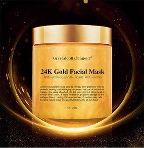 Rosto Facial de cristal colágeno mulher máscara do ouro Ouro 24K Collagen Peel Off Máscara Facial 250g Rosto Pele Hidratante Firmador máscara de creme