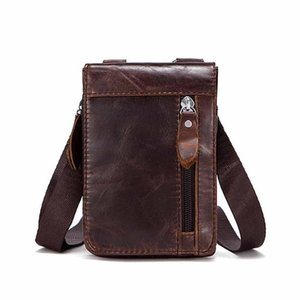 Saco de cintura de couro vintage de camada saco de homens 702 cinto vintage homem neweekend caixa de vaca moda messenger saco para o ombro masculino umviv