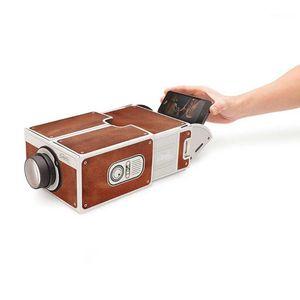 Главная Теаатральная система Мини Портативный картон Smart Phone Projector 2.0 Мобильная проекция для театрального аудио видео DROP1