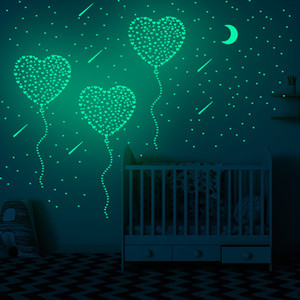 2021 New 3D Stars Glow In The Dark Wall Stickers Luminous Fluorescent