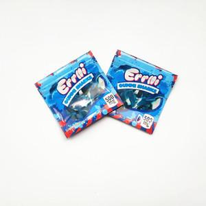 Mavi Errlli Gummi Sharks Çanta 500MG Koku tarayıcılar Dayanıklı Yeni Mylar Edibles Skittles Köpekbalıkları Yenilebilir Ambalaj boşaltın
