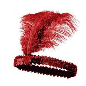 100 unids ostrich plumas diadema danza navidad danza cosplay actuaciones vestir avestrich plumas lentejuelas cabecera tocado joyería dhl envío