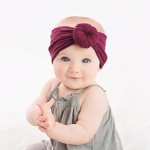 Baby-Donut-Stirnband-weiche Stretchy Nylon Turban Stirnbänder Art und Weise Haar-Band-Bun Headwrap Bandanas Boutique-Haar-Zusätze KKF2205