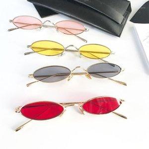 Klassnum Retro kleine ovale Sonnenbrille Frauen Weibliche Vintage Hip Hop Balck Gläser Retro Sonnenbrille Dame Eyewear1