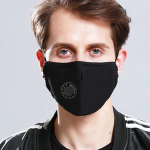 2020 fashion masks Breathable valve washable dust masks anti-fog haze anti-fog monochrome PM2.5 insertable filters Designer masks