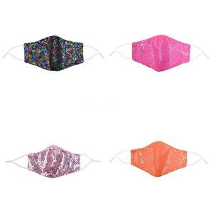 PAILLTE FA Moda Blingbling Pullu Designermask Lavabo Maskeleri Masklar Maskariller Koruyucu Ayarlanabilir Maske # 762