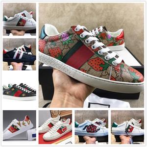 Moda Erkekler Kadınlar Günlük Ayakkabı Sneakers Ayakkabı Üst Kalite Yeşil Kırmızı Şeritli İtalya Arı Kaplan Yılan İşlemeli Koşu sevdi