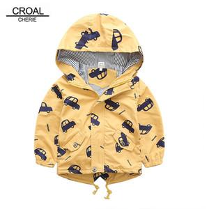 70-120cm Autumn Winter Jacket Boys Girls Kids Outerwear Cute Car Windbreaker Coats Print Canvas Baby Children Clothing Y200919