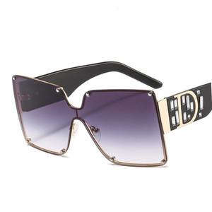 Unisex Black Friday New Ladies Square Gafas de sol Mujeres Goggle Shade Vintage Brand Designer de gran tamaño Gafas de sol para hombres