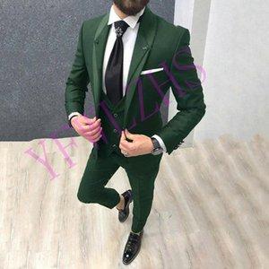 Classic One Button Wedding Tuxedos Shawl Lapel Slim Fit Suits For Men Groomsmen Suit Prom Formal Suits (Jacket+Pants+Vest+Tie) W561