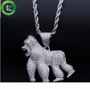 Iced Out Chains Designer Necklace Hip Hop Jewelry Mens Luxury Pendant Micro Paved CZ Diamond Bling Pandora Style Charms Brands Gold Rapper